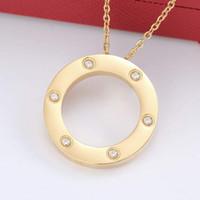 2020 collar color de calidad superior AMANTE colgante de plata del oro para la joyería regalo de las mujeres con el conjunto bolsa original