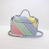 2021 마카롱 패션 핸드백 여성 어깨 가방 정품 가죽 유명 브랜드 크로스 바디 가방