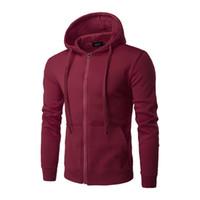 Nouveau Hommes Plaine Hoodies Mode Toison Zipper Jacket Sweat-shirt à manches longues Marque Mens Pocket Pull Plus Size 3XL Sudadera