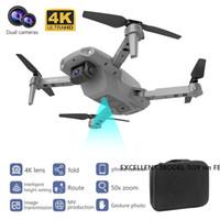 E99Pro مزدوجة 4K HD كاميرا wifi fpv البسيطة المبتدئين الطائرات بدون طيار طفل لعبة، تتبع رحلة، سرعة قابل للتعديل، عقد الارتفاع، صورة لفتة quadcopter، 2-1