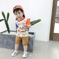 Bébés garçons Vêtements d'été Vêtements enfants bande dessinée costume infantile Pantalons tout-petits T-shirt fixée pour 0 1 2 3 années costume Casual Track bébé