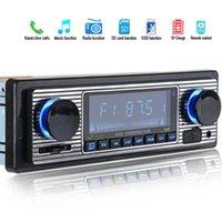 빈티지 자동차 블루투스 FM 라디오 MP3 플레이어 스테레오 USB AUX 클래식 자동차 스테레오 오디오 OLED 컬러 화면 전자