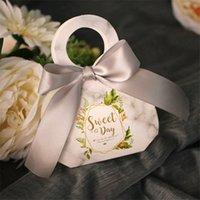 100pcs / lot di alta qualità di marmo Bag regalo di stile di caramella di favori wedding e regali scatole di cioccolatini accessori per la sicurezza omaggi Scatole partito