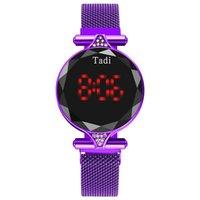 하이 엔드 새로운 네트워크 레드 패션 터치 스크린 여자 시계 TikTok 폭발 모델 자석 전자 별이 빛나는 시계