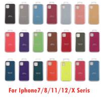 İPhone 7/8/11/12 Için iPhone X Silikon Telefon Kılıfı Kapak Anti-Bırak Yumuşak Su Geçirmez Telefon Kapak Koruma Kapak