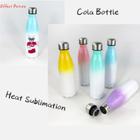 DIY Sublimation 17oz Cola Bottle with Gradient Color 500ml S...