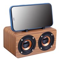 Wooden Wireless Bluetooth Portátil Subwoofer Subwoofer Sistema Bass Bluetooth Speaker TF USB MP3 Player Computador