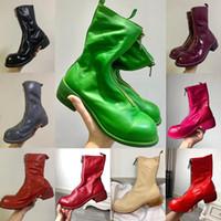2020 أحذية أزياء ذات جودة عالية للمرأة مع جولة تو لينة الحصان جلد الجبهة البريدي أحذية الكاحل وجوديير الحرفية وحيد PL2 الأحذية العسكرية