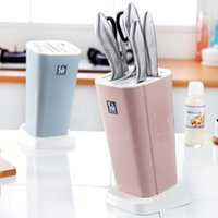 Creativo plástico de almacenamiento de estanterías para herramientas y multi-función de ventilación de cocina antimoho plato cortador plataforma de almacenamiento Bastidores Nnife asiento