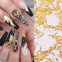 Hoja D uñas Pegatinas de plata de oro de malla irregular de la serie del hilado etiqueta engomada del clavo etiquetas de DIY Nail Art Decoración