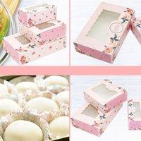 Geschenk Wrap 10 stücke 2/4/6 pack mini mooncake papier box transparent fenster süßigkeiten kuchen kuchen hochzeit favor tasche party dekor