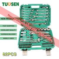 TUOSEN 82pcs in 1 Mechaniker Handratsche Werkzeugsätze Autosteckschlüssel Werkzeug Set Mini-Reparatur für Auto professionellen gereedschap Kit