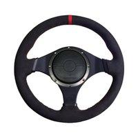 LS AUTO التضفير على تغطية عجلة القيادة لميتسوبيشي لانسر تطور 9 EVO 9 اكسسوارات السيارات اليد الخياطة التصميم السيارات