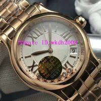 VS Fábrica FELIZ DIAMANTES Senhora Relógios Mulheres Diamond Watch ETA 2892 Automatic Sapphire mecânica 18K Rose Ladies Watch Waterproof