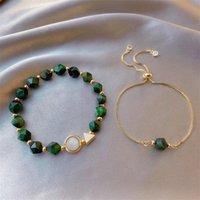 al por mayor de verde / azul / rojo joyería ajustable piedra de gema de pulseras para el tobillo pulsera de mujeres niñas Daily regalos de cumpleaños Jewellry