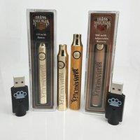 Brass Knuckles Vape батареи 650mAh 900mAh Variable Voltage Разогреть E-Cigarette батареи Vape Pen 510 Батареи густого масла O Pen