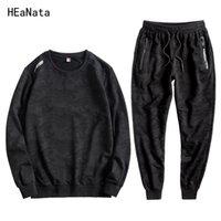 Tracksuits Men sweat suits men mens tracksuit ropa de hombre 2020 Sportsuits Male Autumn Winter Large Size2 Pieces Set BB50T