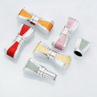 Garrafas de armazenamento frascos est projeto de batom tubo 12.1 mm de alta qualidade plástico placa de plástico rosa ouro vermelho lipgloss recipiente embalagem 20 pcs / lote