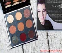 الجملة ماني MUA 9 ألوان ظلال العيون لوحة ذات نوعية جيدة للماء لوحة ظلال longl الأمد