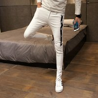 Coreano Skinny Jeans Men Moda 2020 Primavera Slim Fit Mens Plain Jeans Simples Casual Todos Jogo Streetwear Denim Pants Men 34-28 MX200814