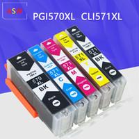 Para Canon PGI 570 CLI 571 PGI570 XL Cartucho de tinta para Pixma MG5750 MG5751 MG5752 MG6850 MG7750 MG6853 MG7753 TS TS5051