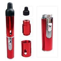 Commercio all'ingrosso Click N Vape Sneak A Vape sneak un Toke fumo del tubo del metallo vaporizzatore Tabacco antivento accendino torcia multi colori BC BH0711