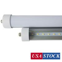 25-Pacote LED 45W 8FT tubo lâmpada, branco frio (6000k), tampa fosca com FA8 único pino, T8, AC85V-277V, 45W - 4800 lumens