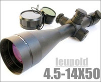 LEUPOLD 4.5-14x50 Marco 4 rossa e verde Mil-dot Illuminato Rifle Scope Viene con i supporti e lente protettiva cappucci neri