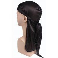 Beanies Vicabo Uzun Kuyruk Korsan Şapka Kadın Erkek Şapka 2021 Yaz Cosplay Kapaklar Moda Şık Bandaj Hairband Unisex Türban