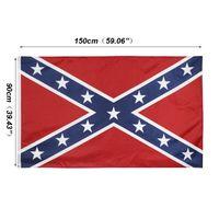 90 * 150cm guerra civile Rebel Bandiere due lati Penetrazione bandiera confederata ribelli Bandiere in poliestere Nazionali bandiere personalizzabile VT1420