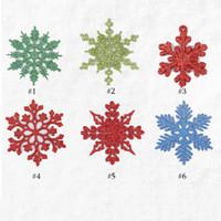 Gioielli Decorazione di Natale dei fiocchi di neve fascini dell'albero di Natale fai da te Pendenti spazzolato Snow Scene Accessori fiocchi di neve
