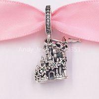 Perles d'argent sterling authentiques 925 Tinker Bell and Castle of Magical Dreams Pandora Charm Charms Convient aux bijoux de style Pandora européen Bracel