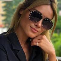 Classic Retro-Nieten Sonnenbrillen Metallrahmen Vintage-Sonnenbrillen für Frauen, Männer