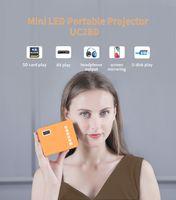 미니 휴대용 비디오 프로젝터 LED WiFi 프로젝터 UC28D 16.7M 비디오 홈 시네마 영화 게임 시네마 오피스 비디오 프로젝터
