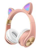 LED Cat Ear Bluetooth наушники M1 оголовье Беспроводных наушников проблесковых светящихся гарнитур со светодиодной подсветкой 3,5 мм Поддержка TF Ca подключи