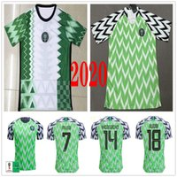 2020 2021 NUEVO Jerseys de fútbol Okocha Ahmed Musa Mikel Okechukwu Iheanacho Moses Custom 2018 Copa del Mundo Cup Fall Football Shirt