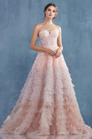 5773 Stock Tulle Seweetheart 민소매 푸릴 Peplum Celebrity 공식 파티 가운 Myriam Chant 싼 Prom 착용 판매
