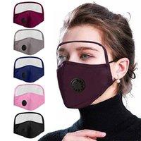 أزياء القطن قناع الوجه مع عيون درع تنفس صمام PM 2.5 أقنعة حزب مكافحة الغبار في الهواء الطلق قابلة لإعادة الاستخدام الفم الوجه اللوحش للرجال النساء