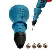 Electric Blue Rivet Dado Pistola strumento cordless Chiodatrice Trapano adattatore dado di inserimento rivettatrice Drill adattatore 2,4 millimetri-4,8 millimetri