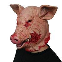 الرعب هالوين قناع تنكر خنزير رئيس قناع الحيوان تأثيري حلي اللاتكس قناع
