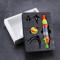Leuchtturm Silikon Dabber Raucherpfeife Acryl Rauchen Bong mit Glasbefestigung Quatz Schüssel Bunte Rauchen Filter für 10mm Titan Nagel