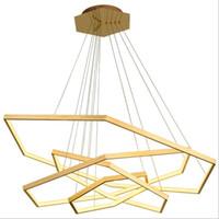 Творческое Нерегулярное Золотое кольцо лампы Gold Alu. Круг Подвеска Свет Роскошные Кольцо из нержавеющей стали Люстра Висячие света светильника