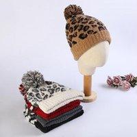 ليوبارد القبعة الصوف بيني النساء أزياء الشتاء الدافئة سميكة الصوف كاب كبير شعر 5 أنماط أغطية للرأس الحزب DDA434
