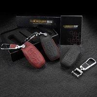 Car Key Bag 2014-2020 для автомобилей Ford F150 Mustang Lincoln MKZ MKC МКХ Верхний слой кожи Авто ключеник автоаксессуары