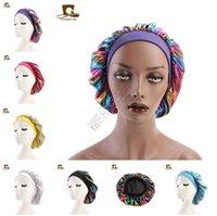 Geniş Stretch İpek Saten Nefes Bandana Bonnet Kafatası Cap Kemo Şapka D82702 Bonnet Turban Şapka Tasarımcısı Sleeping Lazer Caps Müslüman Kadınlar