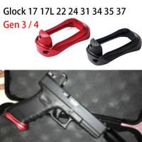 HQ Magorui 전술베이스 패드 알루미늄 Magwell 그립 Pro Plus Pistol 핸드 총 Glo CK Gen 3-4 G17 G22 G24 G31 G34 G37 블랙 레드
