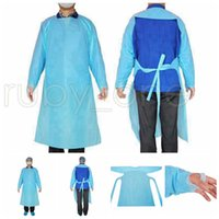 CPE de prendas protectoras impermeables desechables aislamiento Vestidos Ropa trajes de protección contra el polvo al aire libre Ropa de protección desechables impermeables R3535