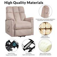 US STOCK haute qualité Adultes relaxable Fur Power Lift Soft Chair Fabric Recliner Salon Salon Canapé avec PP038656EAA Télécommande