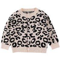 2020 мальчиков и девочки падают леопард свитер вязаного кардигана детского обучения одежды младенец куртки вскользь куртку
