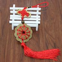 Décorations intérieures chanceuses Ancient Ancient Tradition Knot Chinois Feng Shui Monnaies Prosperity Protection Bonne Fortune Home Decor de voiture